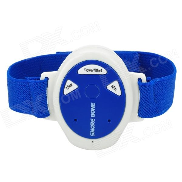 Electronic Wristband Style Pulse Snore Stopper - Blue + White (1 x CR2032) inlins snore stopper wristband anti