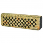 SOUNDER N3 Maple Leaves Pattern Bluetooth V2.1 Speaker Box w/ Microphone - Black + Light Yellow