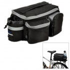 ROSWHEEL 14024 Outdoor Cycling Oxford + PVC Bicycle Backseat Bag - Black + Grey