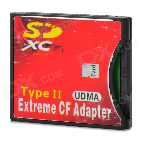 SDHC / SD to CF Type-II Card Adapter - Red + Black david buckham executive s guide to solvency ii