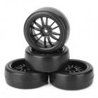 1/10 Scale Replacement Road Flat Running Soft Tyre Tire (4 PCS)