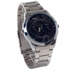 EYKI W8443AG Stylish Stainless Steel Band Men's Quartz Analog Wrist Watch - Silver (1 x LR626)