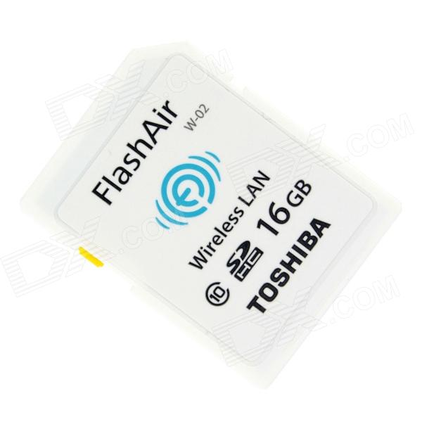 Toshiba FlashAir Wireless LAN W-02 SDHC Memory Card - White (16GB / Class10)