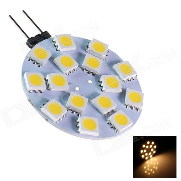 GCD 208 G4 4W 150lm 15-SMD 5050 LED Warm White Light Car Lamp (12V)