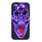 3D Skeleton Protective Plastic Back Case for Iphone 5 - Purple + Black + Red