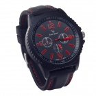 Super speed V6 V0099  Imitation Racer Quartz Wrist Watch for Man - Black + Red (1 x LR626)