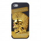Novelty 3D Skeleton Protective Plastic Back Case for Iphone 5 - Gold + Black