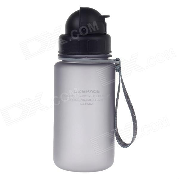 UZSPACE High-quality Leak-proof Frosted Bottle w/ Straw - Black (350ml)