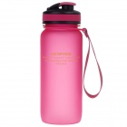 UZSPACE High-quality Leak-proof Frosted Bottle w/ Elastic Cover - Deep Pink (650ml)