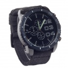 SuperSpeed V0166 Fashionable Men's Stainless Steel Linen Quartz Wrist Watch - Black (1 x LR626 )