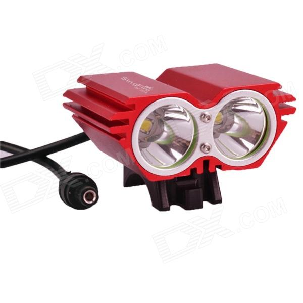 SingFire SF-804A 530lm 3-Mode Bike Headlamp w/ 2 x Cree XM-L T6 - Red (4 18650)