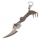 Animation Unique Tercel Style Zinc Alloy Sword Toy Keychain - Bronze + Silver