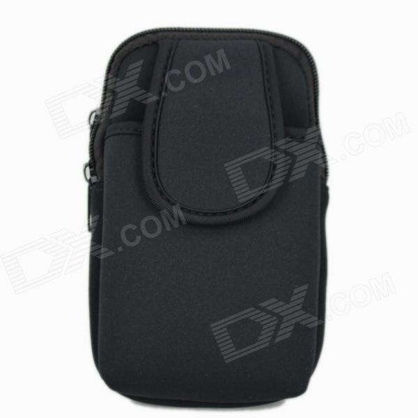 Universal Nylon Cell Phone Holster - Black (Size L)