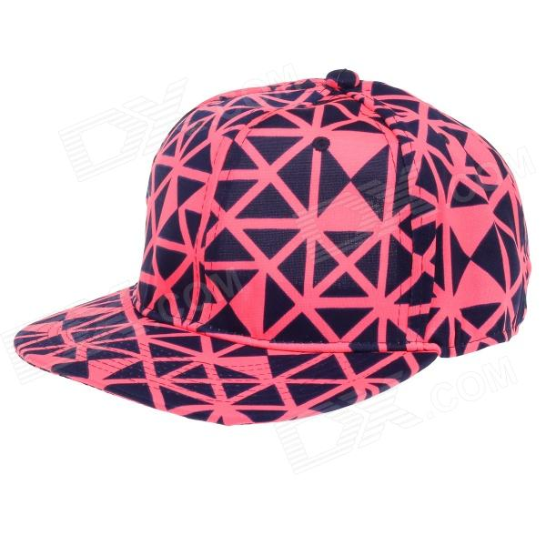 TIANFENG Fahion Geometry Baseball Cap Hat - Black + Pink 2017 new fashion brand breathable v ring black snapback caps strapback baseball cap bboy hip hop hats for men women fitted hat