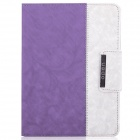 ENKAY ENK-3138 Jean Style PU Leather Case for Ipad 2 / 4 / the New Ipad - Purple + White