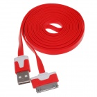 Flat 30-Pin Male to USB 2.0 Data Sync / Charging Cable for iPhone 4 / 4S / iPad 2 / 3 - Orange (2m)