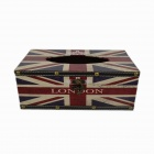 Creative European Style Union Flag Wooden Tissue Box Case - Blue + Red + White