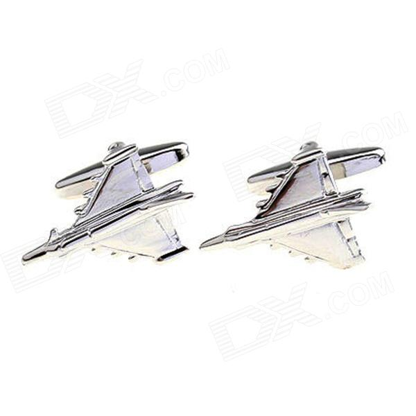 Fighter Electroplating White Steel Cufflinks for Men - Silvery (Pairs)