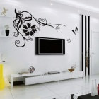 Aomei 0019APVC Splendid Flower Vine Pattern Home Decor Wallpaper TV Background Sticker (Size M)