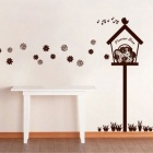 Aomei 0020 Flower Box Pattern PVC Drawing Room Bathroom Decor Wall Sticker - Coffee