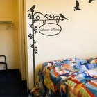 Aomei 0021 Romantic Sweet Birds Pattern Home Decor PVC Wall Sticker - Black