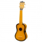 "William Mini Handheld 21"" 4-String Ukulele  -  Yellow + Dark Green"
