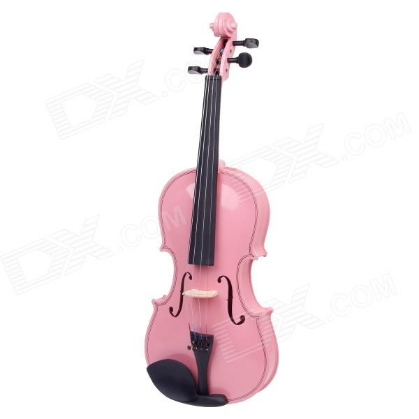 william 4/4 Full Size Beginner Violin Starter Kit - Pink (Bow, Rosin, Case) full size 4 4 solid basswood electric acoustic violin with violin case bow rosin strings accessories