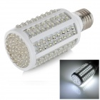 E27 7W 600lm 6000K 166-LED White Bulb - White + Yellow (AC 110V)