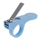 Rikang RK-3653 Dedicated Anti-skidding Stainless Steel + ABS Baby Nail Clipper - Blue