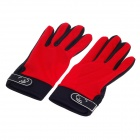 Non-slippery And Breathable Full-Finger Gloves - Black + Red ( Size-XL / Pair)