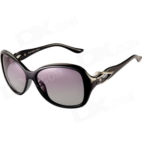 Reedoon  30110 Lady's  UV400 Polarized Sunglasses - Black reedoon 1417 trend of the goddess hip hop sunshade sunglasses black golden