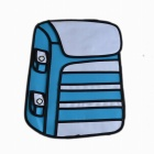 Oxford Fabric Cartoon Double Shoulder Bag Backpack - Blue (Size L)