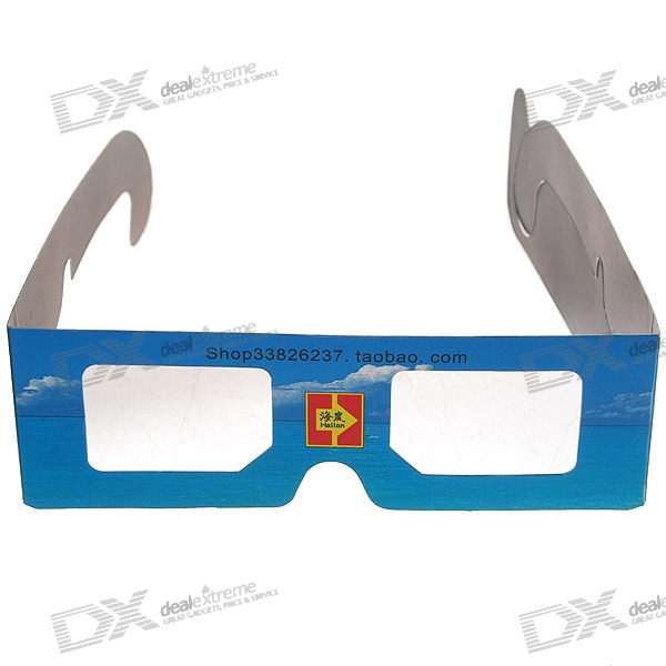 DIY Disposable Anaglyphic Red + Blue 3D Glasses (Assorted)