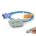 Adult Soft Silicone Encryption Fingertip Oximeter Probe - Blue + Grey