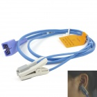 Adult Encryption Ear Clip Oximeter Probe - Blue + Grey
