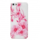 Flower with Water Drop Style Protective TPU Back Case for iPhone 5 - Pink + White