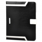 Elegant Protective PU Leather Case for Ipad 2 / 3 / 4 - Black + White