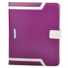 Elegant Protective PU Leather Case for Ipad 2 / 3 / 4 - Purple + White