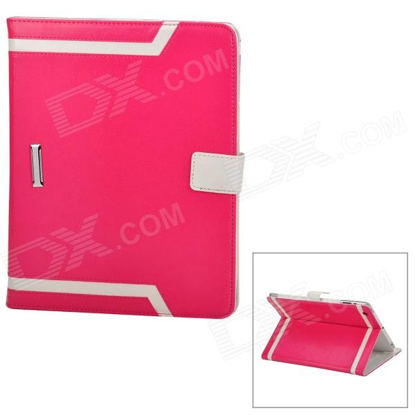Elegant Protective PU Leather Case for Ipad 2 / 3 / 4 - Deep Pink + White ipad 4 in 1 photo lens