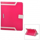 Elegant Protective PU Leather Case for Ipad 2 / 3 / 4 - Deep Pink + White