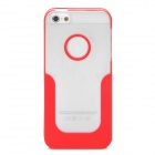 U Style Protective TPU Back Case for Iphone 5 - Red + Transparent