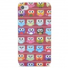 Cartoon Owl Style Protective Plastic Back Case for Iphone 4 - Multicolor