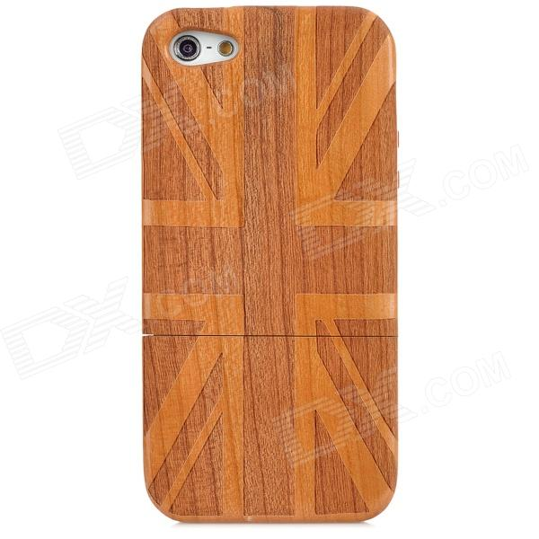 UK National Flag Style Protective Wooden Back Case for Iphone 5 - Brown suck uk