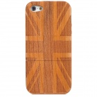 UK National Flag Style Protective Wooden Back Case for Iphone 5 - Brown
