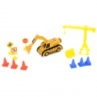 WLtoys 5010-1 Mini Rechargeable 2-CH Radio Control R/C Excavator Digger - Yellow