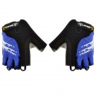 Spakct S13G01 Polyamide + Elastane Half-finger Gloves - Black + Blue (XL / Pair)