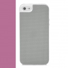 SHOW PITT Cool Basketball Skin Pattern PU + TPU Protective Back Case for Iphone 5 - Gray + White