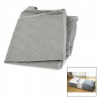 Folding PP Non-woven Fabric Tilt / Blanket / Coat Storage Bag - Grey