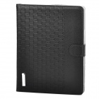 Checked Style Protective PU Leather Case for Ipad 2 / 3 / 4 - Black