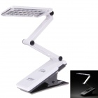 KANGMING KM-6657A 2.2W 6000k 72lm 24-SMD White Lights 2-Mode Folding Table Light - Black + White